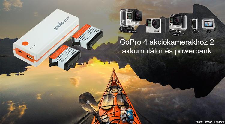 Go-Pro akkumulátortöltő PowerBank külső akkumulátor