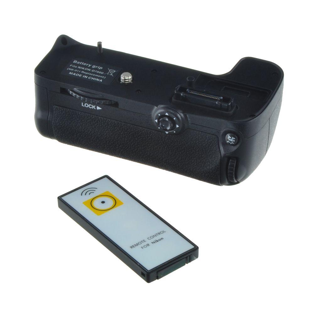 Nikon MB-D11 utángyártott portrémarkolat és távkioldó a Jupiotól, Nikon D7000 fényképezőgéphez