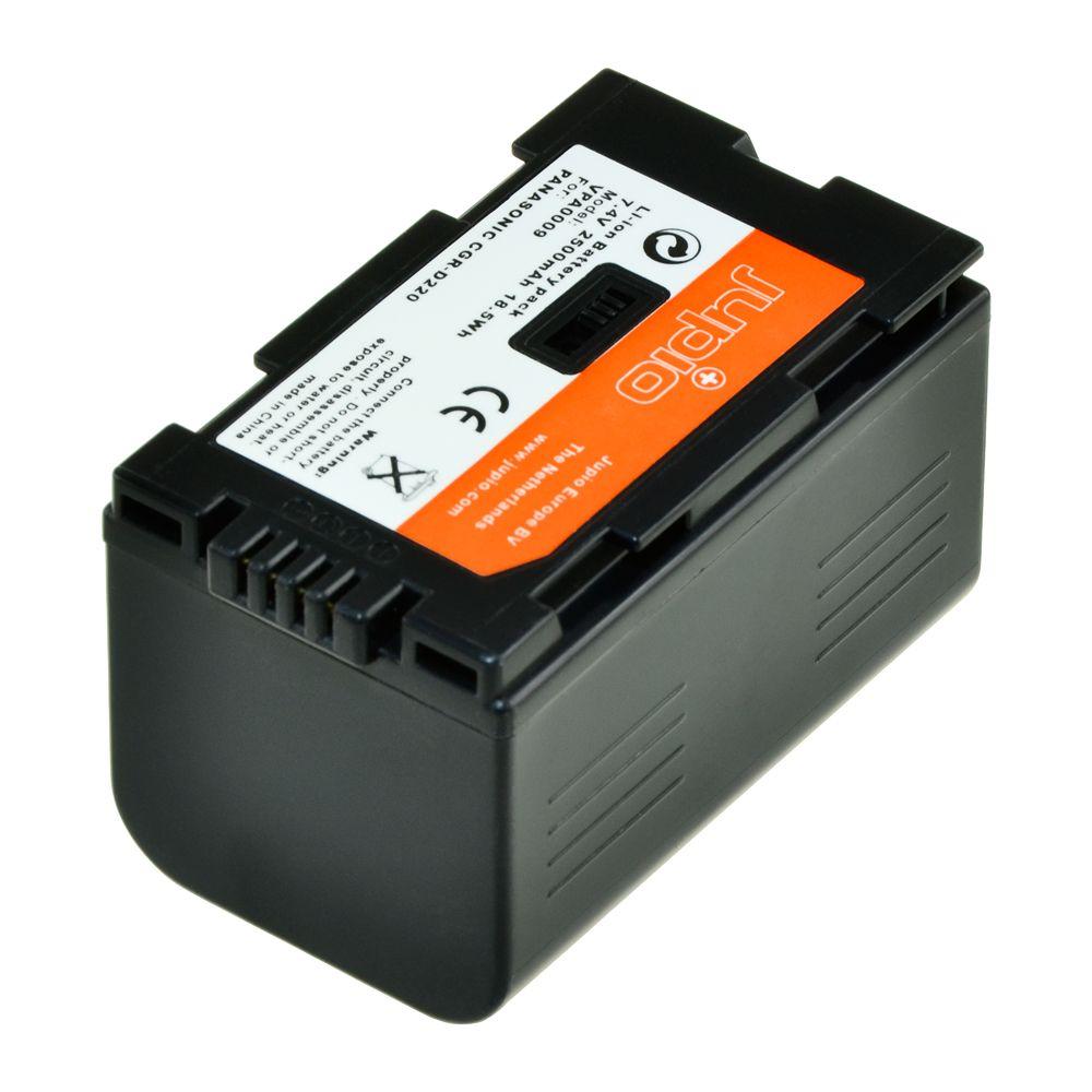 Panasonic D220, Panasonic D16S, videokamera utángyártott-akkumulátor, a Jupiotól