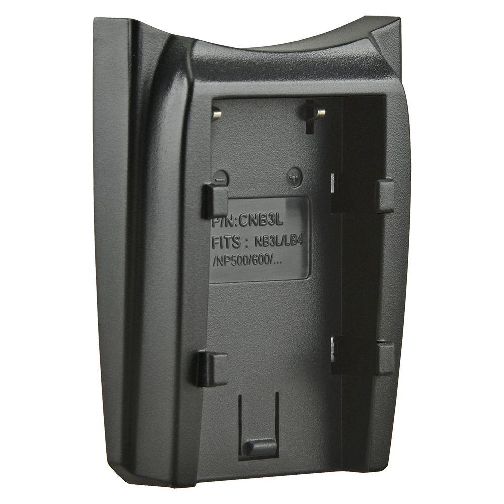 Jupio cserélhető akkumulátor-töltő foglalat Canon NB-3L, Konica Minolta NP-500, NP-600