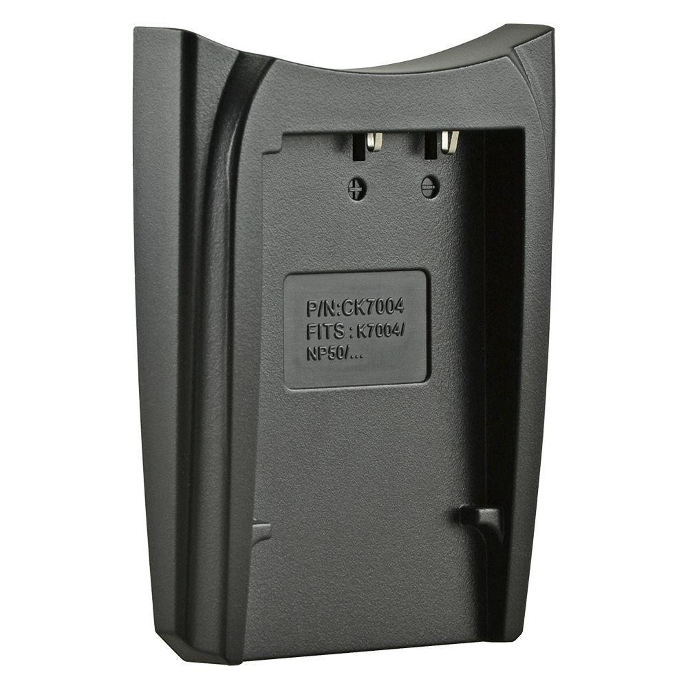Jupio cserélhető akkumulátor-töltő foglalat Fuji NP-50, Pentax D-Li68, D-Li122, Kodak Klic-7004