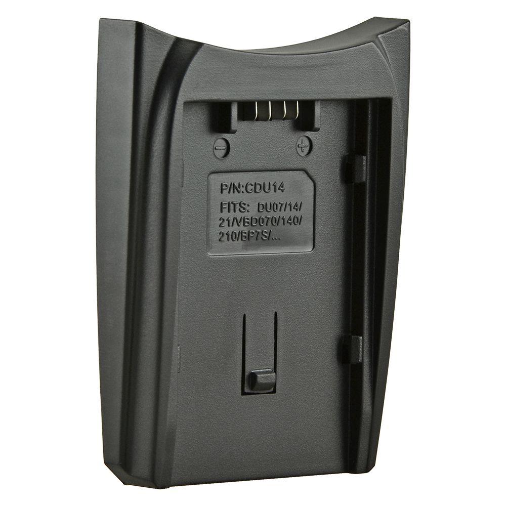 Jupio cserélhető akkumulátor-töltő foglalat Panasonic CGA-DU06 / DU07 / DU12 / DU14 / DU21 és Hitachi DZ-BP07S akkumulátorhoz