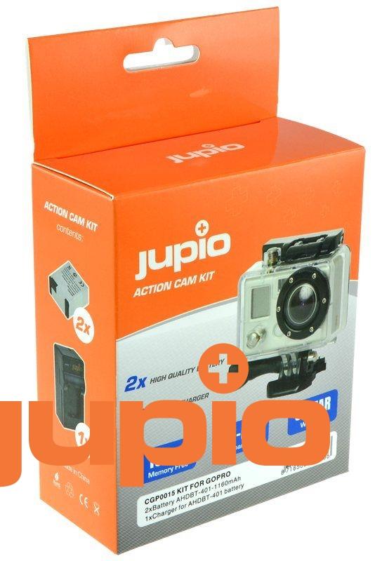 GoPro Hero 4 AHDBT-401, akciókamera utángyártott-akkumulátor, + TÖLTŐ kit, a Jupiotól
