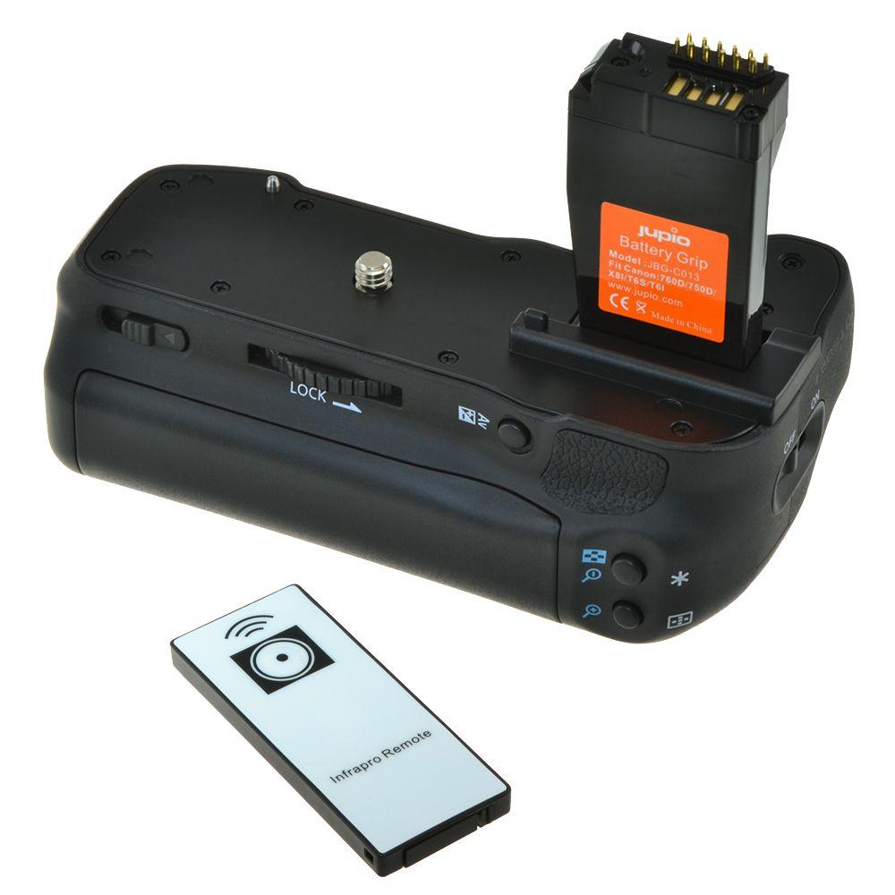 Canon BG-E18 utángyártott portrémarkolat Canon EOS 760D, Canon EOS 750D fényképezőgéphez