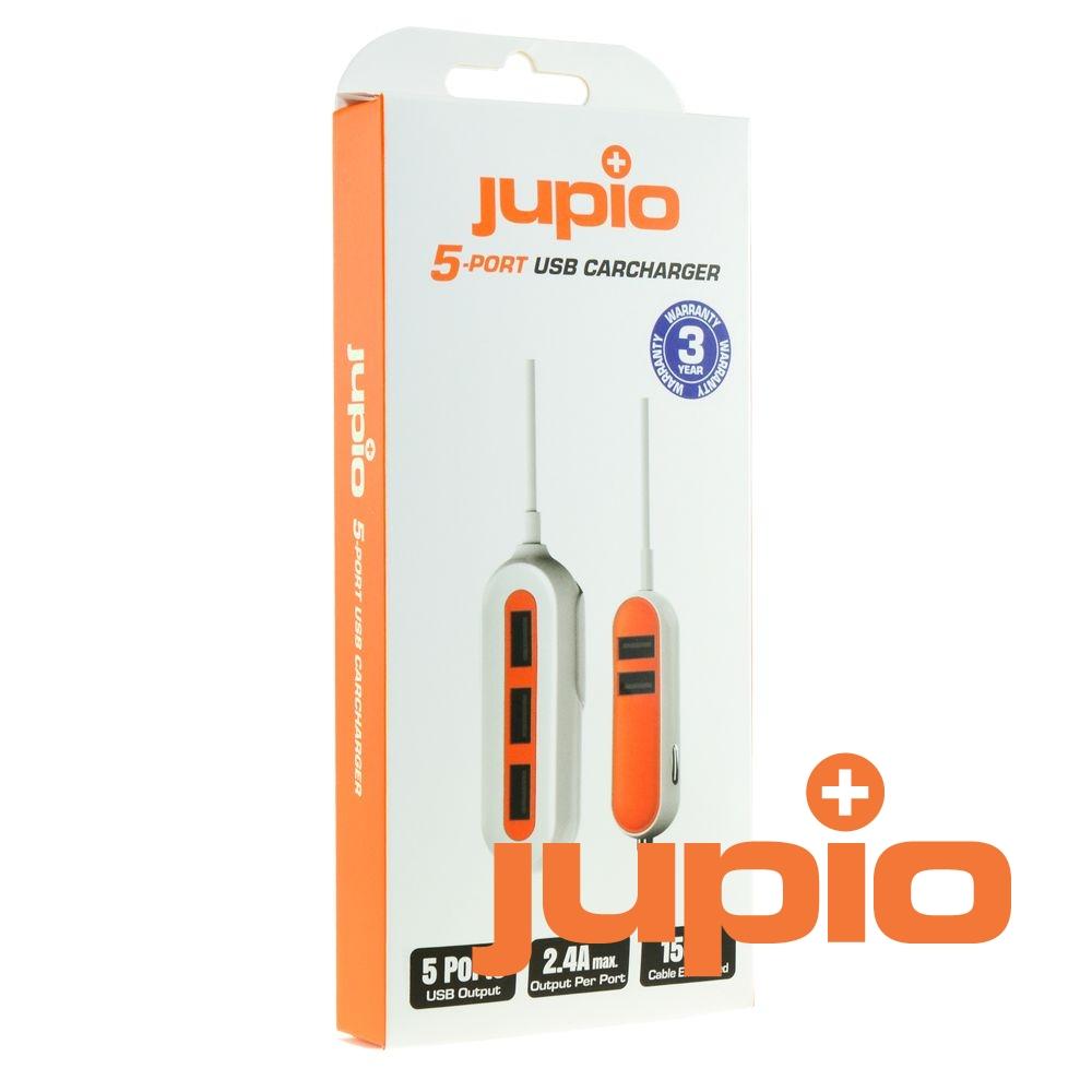 Jupio szivargyújtós USB töltő 5 darab kimenettel 12-24V