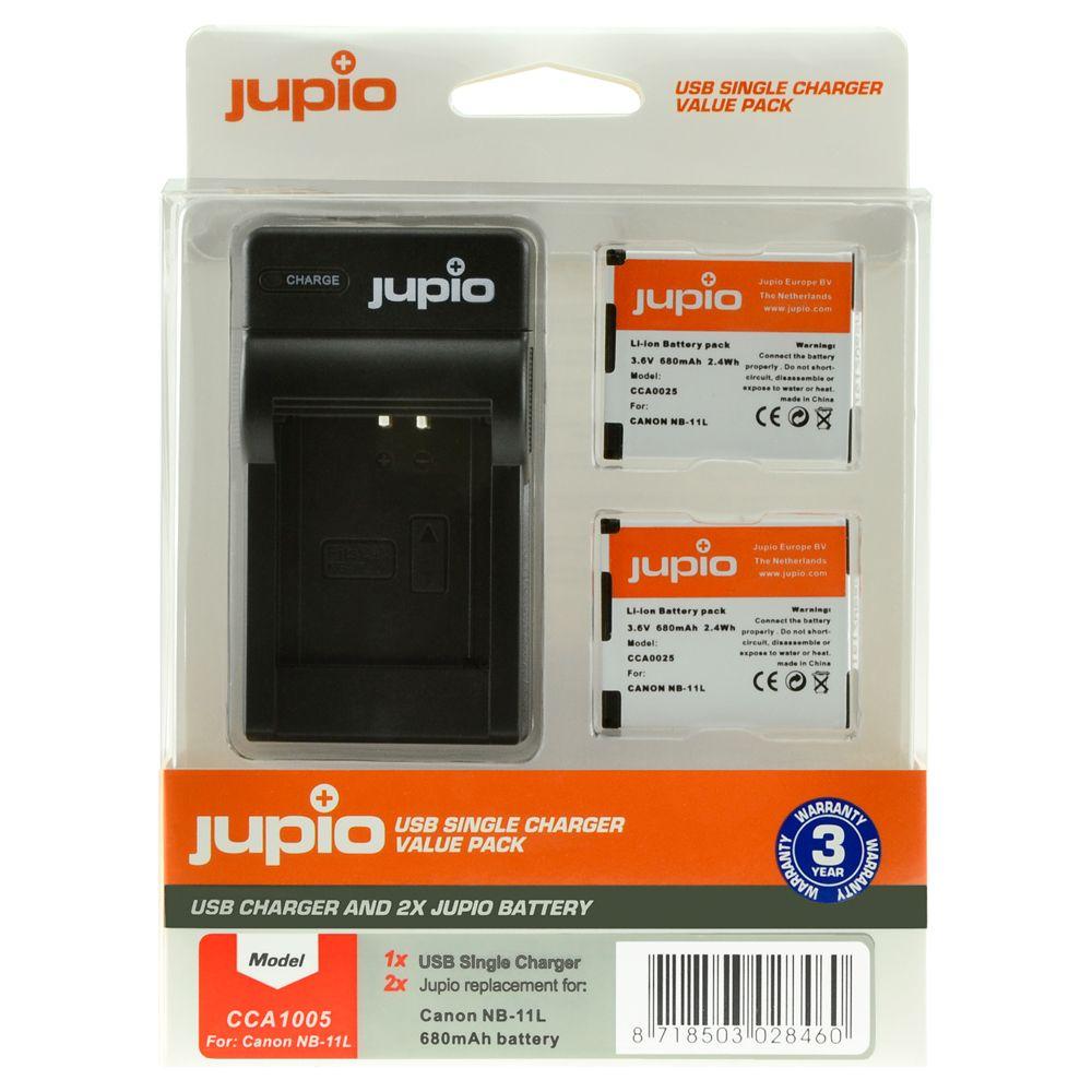 Canon NB-11L utángyártott fényképezőgép akkumulátor és USB Single Charger Kit a Jupiotól