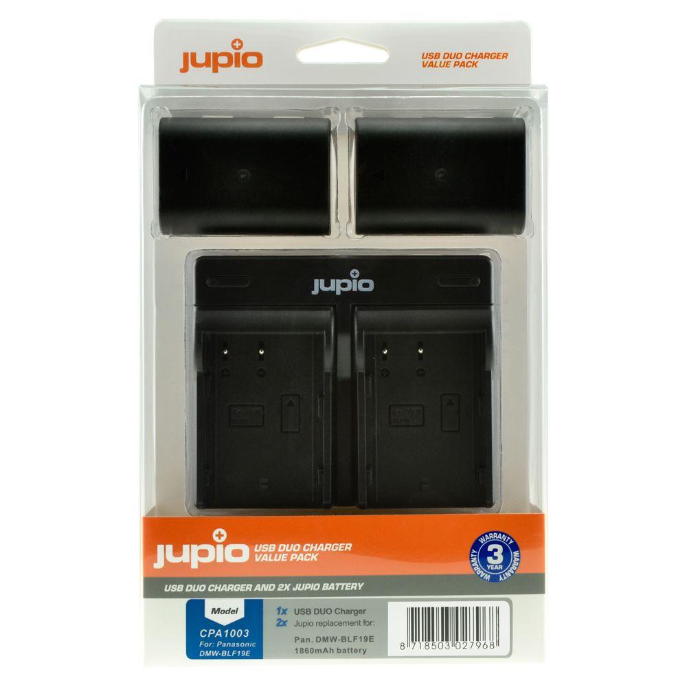 b1ded9ae86f4 Panasonic DMW-BLF19E 1860mAh utángyártott fényképezőgép akkumulátor és USB  Dual Charger Kit a Jupiotól