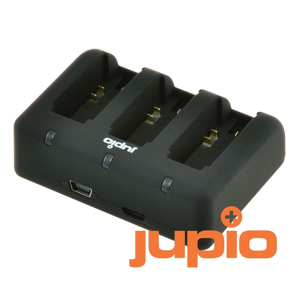 Jupio Compact USB Tripla akkumulátor-töltő GoPro Hero akkumulátorokhoz
