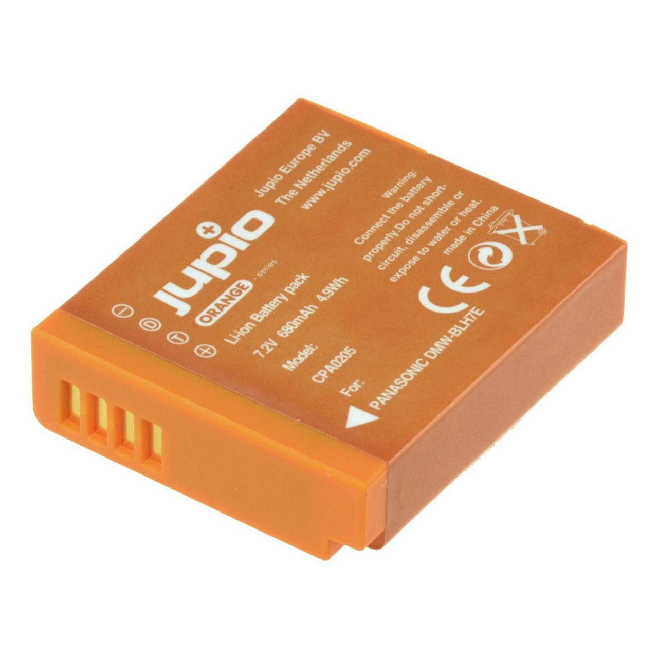Panasonic DMW-BLH7E Orange, utángyártott fényképezőgép akkumulátor a Jupiotól